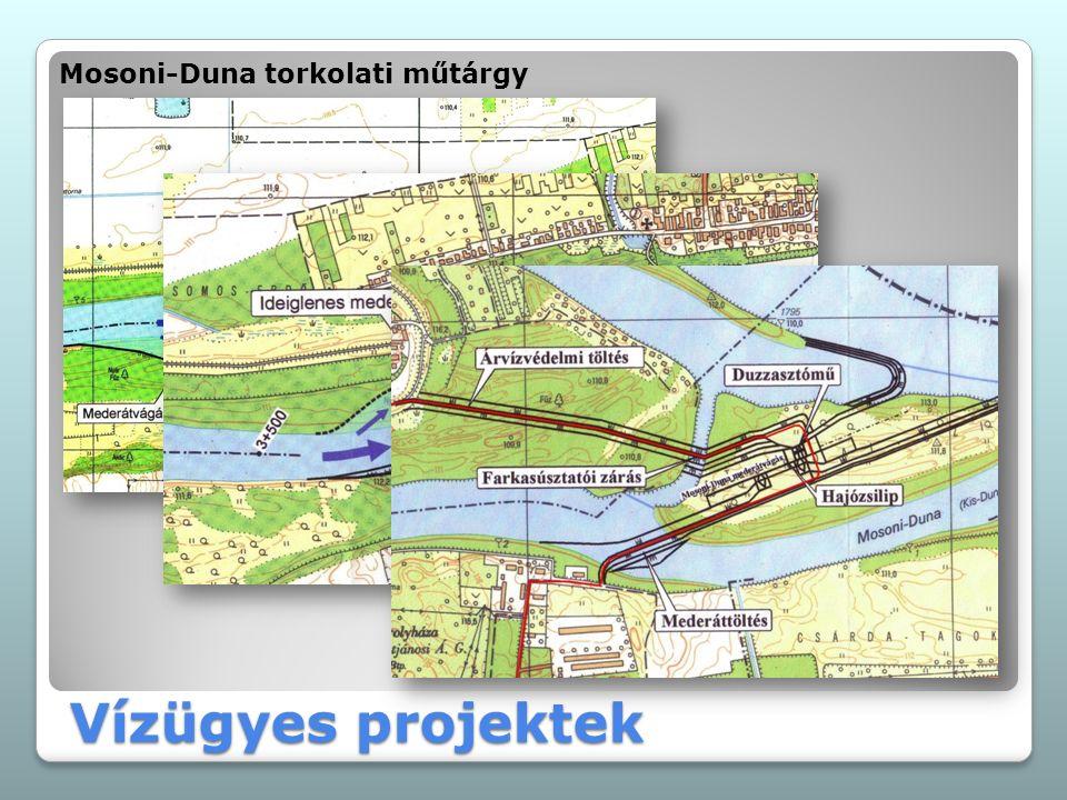 Vízügyes projektek Mosoni-Duna torkolati műtárgy