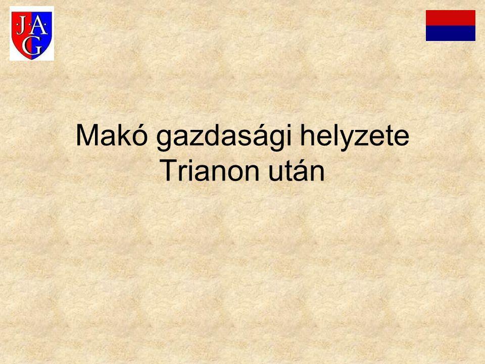 Makó gazdasági helyzete Trianon után