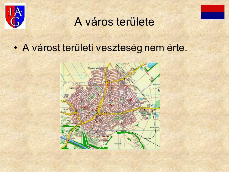 A város területe A várost területi veszteség nem érte.