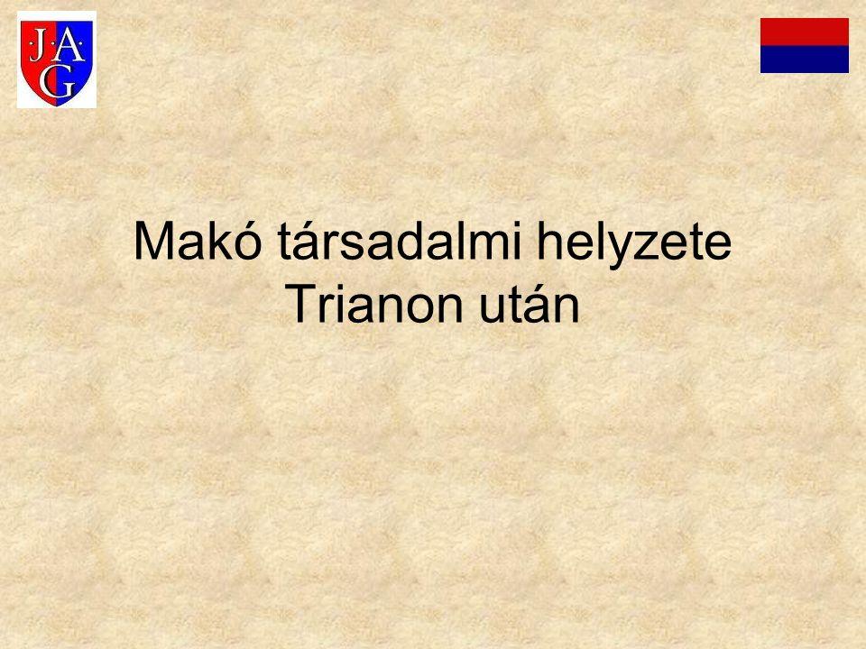 Makó társadalmi helyzete Trianon után
