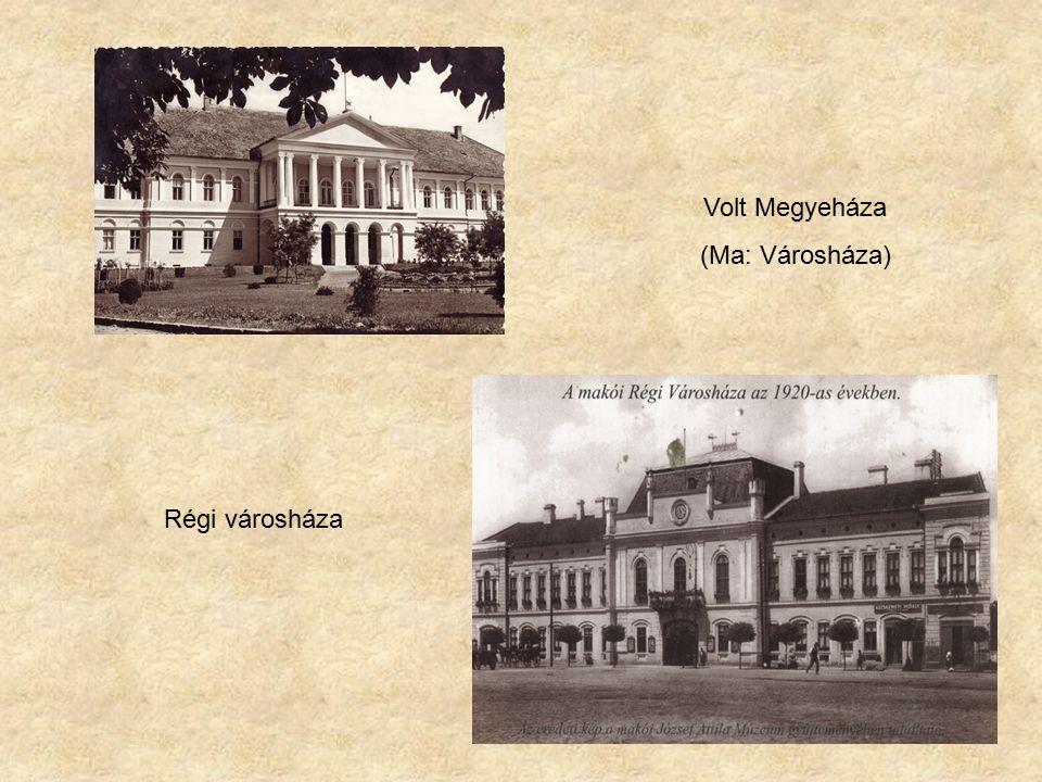 Volt Megyeháza (Ma: Városháza) Régi városháza