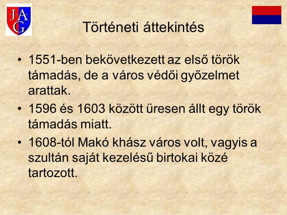 Történeti áttekintés 1551-ben bekövetkezett az első török támadás, de a város védői győzelmet arattak. 1596 és 1603 között üresen állt egy török támad