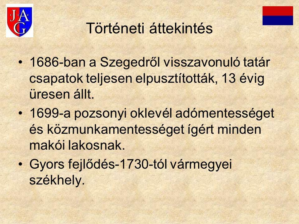 Történeti áttekintés 1686-ban a Szegedről visszavonuló tatár csapatok teljesen elpusztították, 13 évig üresen állt. 1699-a pozsonyi oklevél adómentess