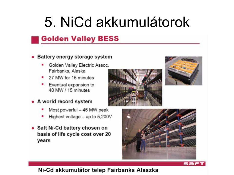 5. NiCd akkumulátorok