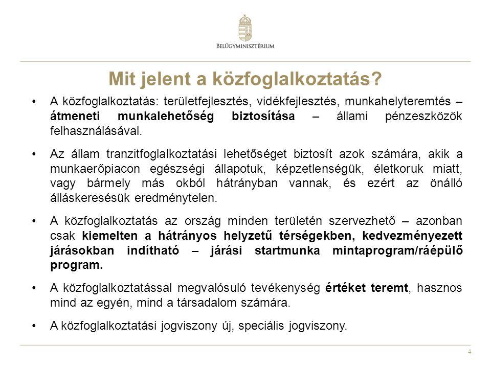 15 Elindult a Közfoglalkoztatási portál… Elérhetősége: http://kozfoglalkoztatas.kormany.huhttp://kozfoglalkoztatas.kormany.hu Virtuális Közfoglalkoztatási Piac : http://vkp.munka.huhttp://vkp.munka.hu