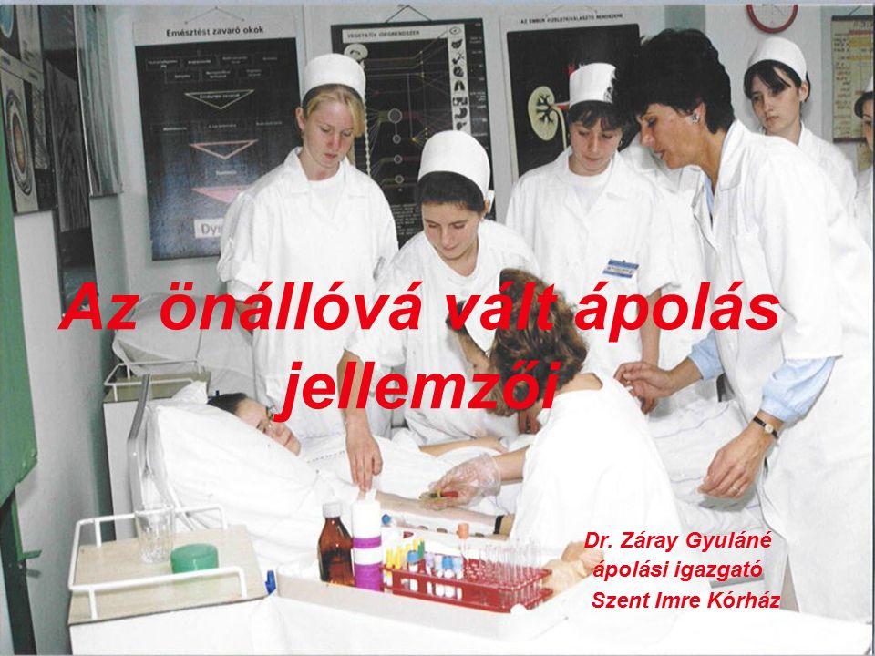 Az önállóvá vált ápolás jellemzői Dr. Záray Gyuláné ápolási igazgató Szent Imre Kórház