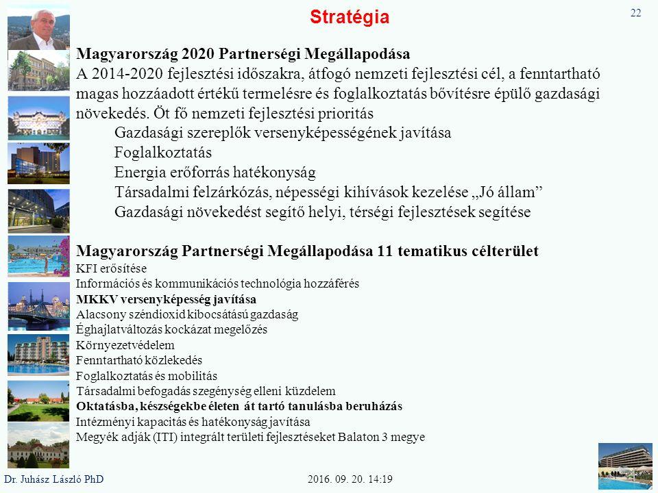 Stratégia Magyarország 2020 Partnerségi Megállapodása A 2014-2020 fejlesztési időszakra, átfogó nemzeti fejlesztési cél, a fenntartható magas hozzáadott értékű termelésre és foglalkoztatás bővítésre épülő gazdasági növekedés.