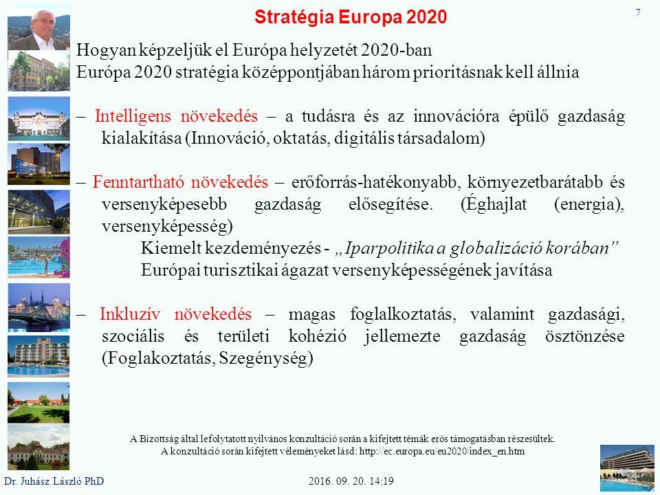 Stratégia Europa 2020 Intelligens növekedés - a tudásra és az innovációra épülő gazdaság kialakítása.