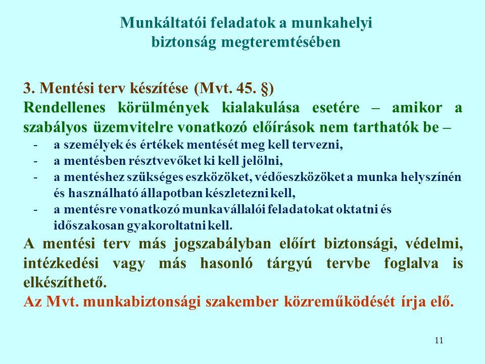 3. Mentési terv készítése (Mvt. 45.