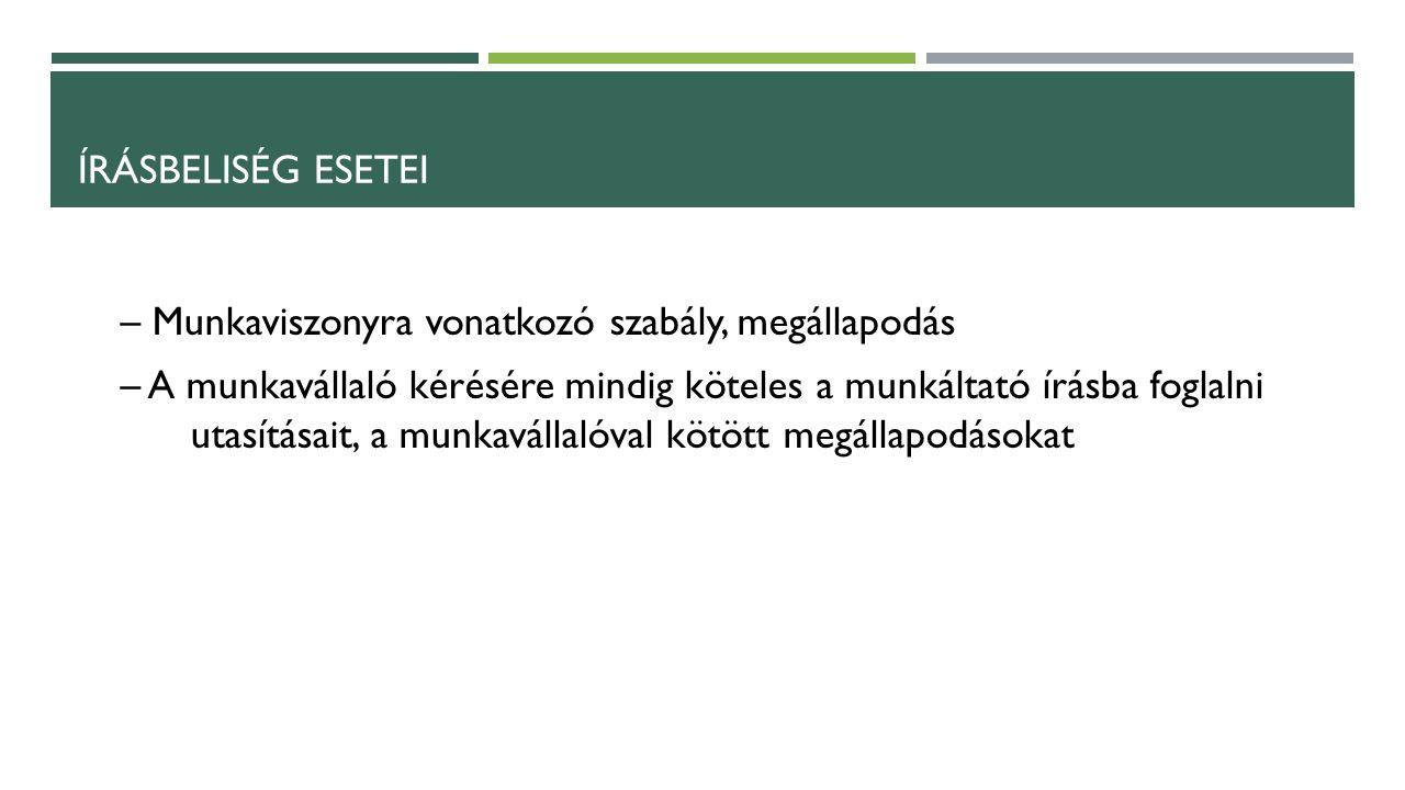 HAZAI GYAKORLAT A felek egyeztetésén a hangsúly Békéltetői eljárás – eseti egyeztető bizottság Üzemi tanács/szakszervezet állandó egyeztető bizottságról is rendelkezhet Önkéntes döntőbírói eljárás (felek megállapodásán alapul) Kötelező döntőbírói eljárás – Üzemi tanács választás - Indokolt költségek megállapítása – Jóléti célú pénzeszközök felhasználása