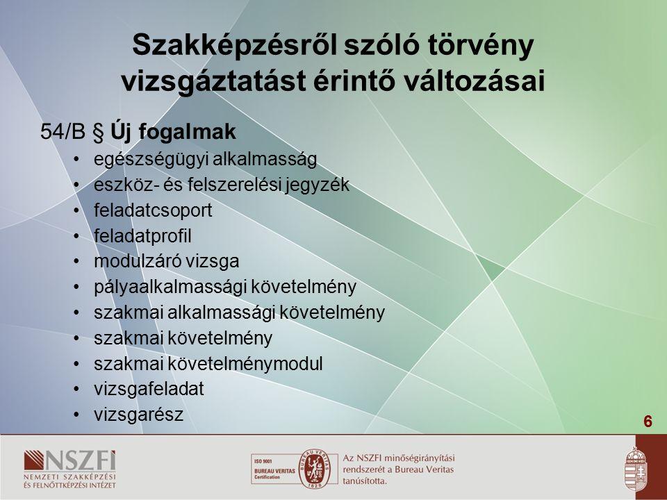 57 A szakmai vizsga díjazása 1/2001.