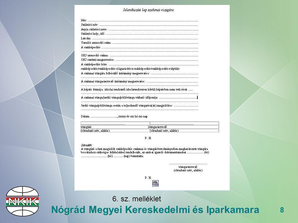 """29 Nógrád Megyei Kereskedelmi és Iparkamara A vizsgázó értékelése """"Új A szakmai vizsga eredménye egy v."""