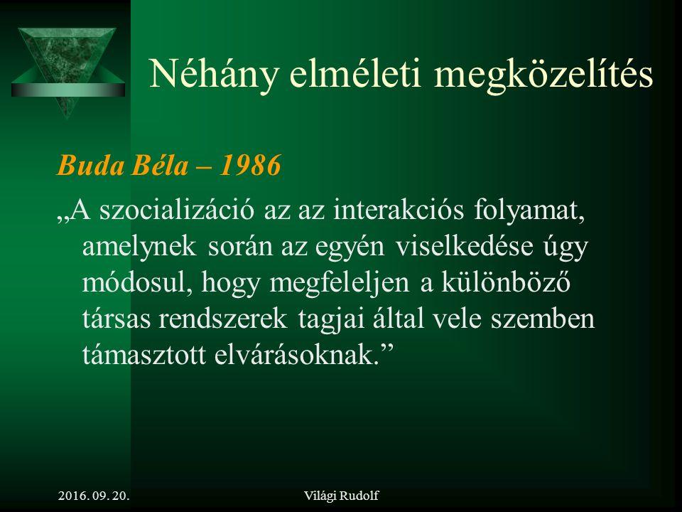Világi Rudolf Tisztázandó fogalmak  Mi a célja a munkahelyi szocializációnak.