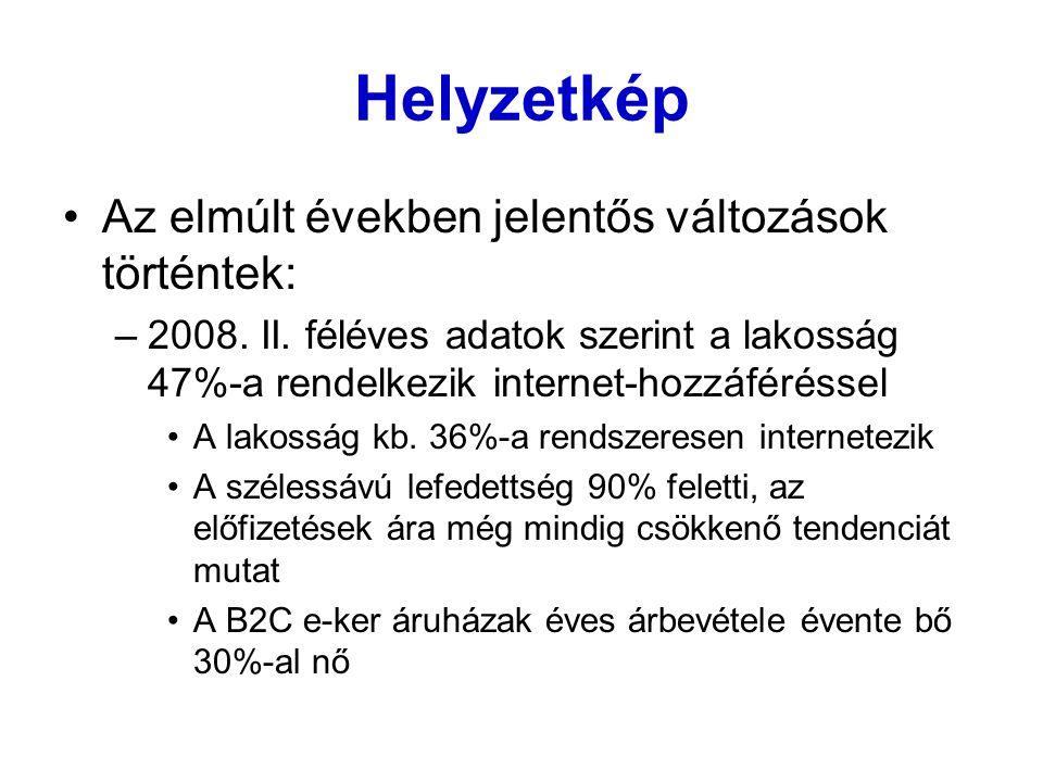 Helyzetkép – 2009 (B2C) Forgalmi adatok Éves árbevétel 2008-ban 63 mrd.
