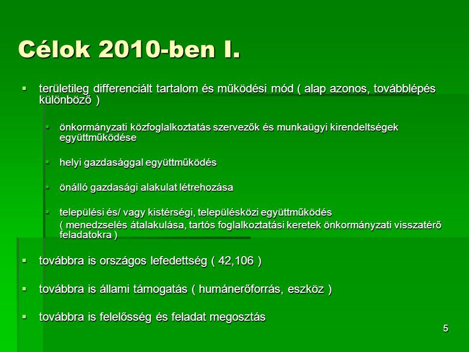 5 Célok 2010-ben I.
