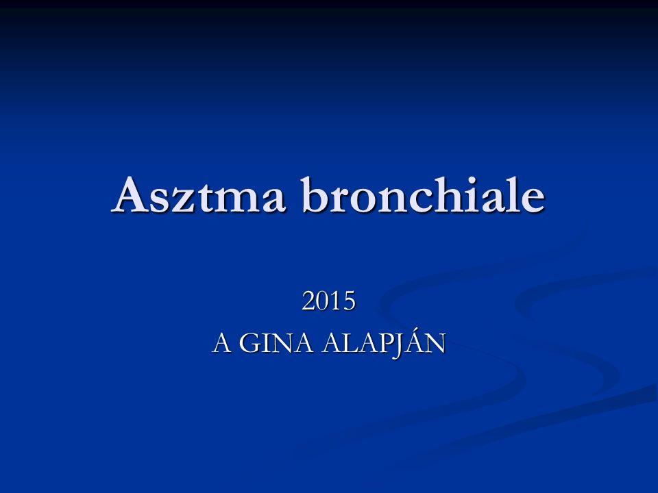 Asztma bronchiale 2015 A GINA ALAPJÁN