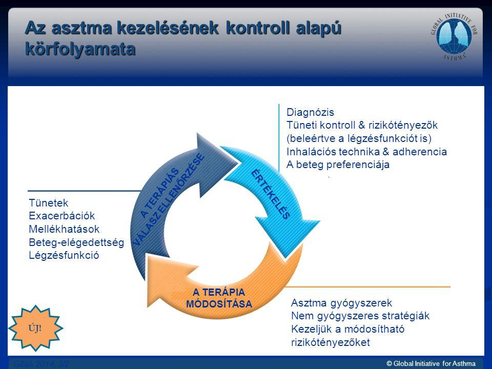 © Global Initiative for Asthma Az asztma kezelésének kontroll alapú körfolyamata GINA 2014, 3/2 ÚJ.