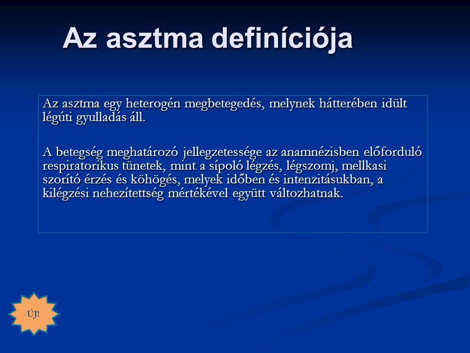 Az asztma egy heterogén megbetegedés, melynek hátterében idült légúti gyulladás áll.