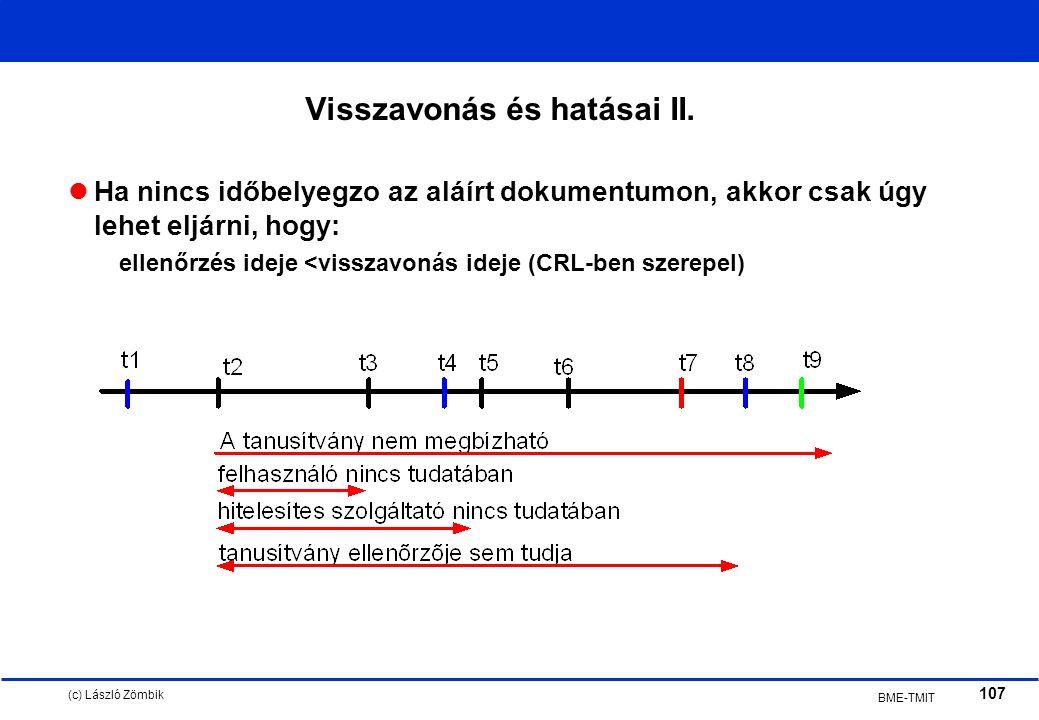(c) László Zömbik 107 BME-TMIT Visszavonás és hatásai II.