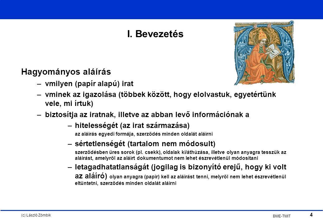(c) László Zömbik 4 BME-TMIT I.