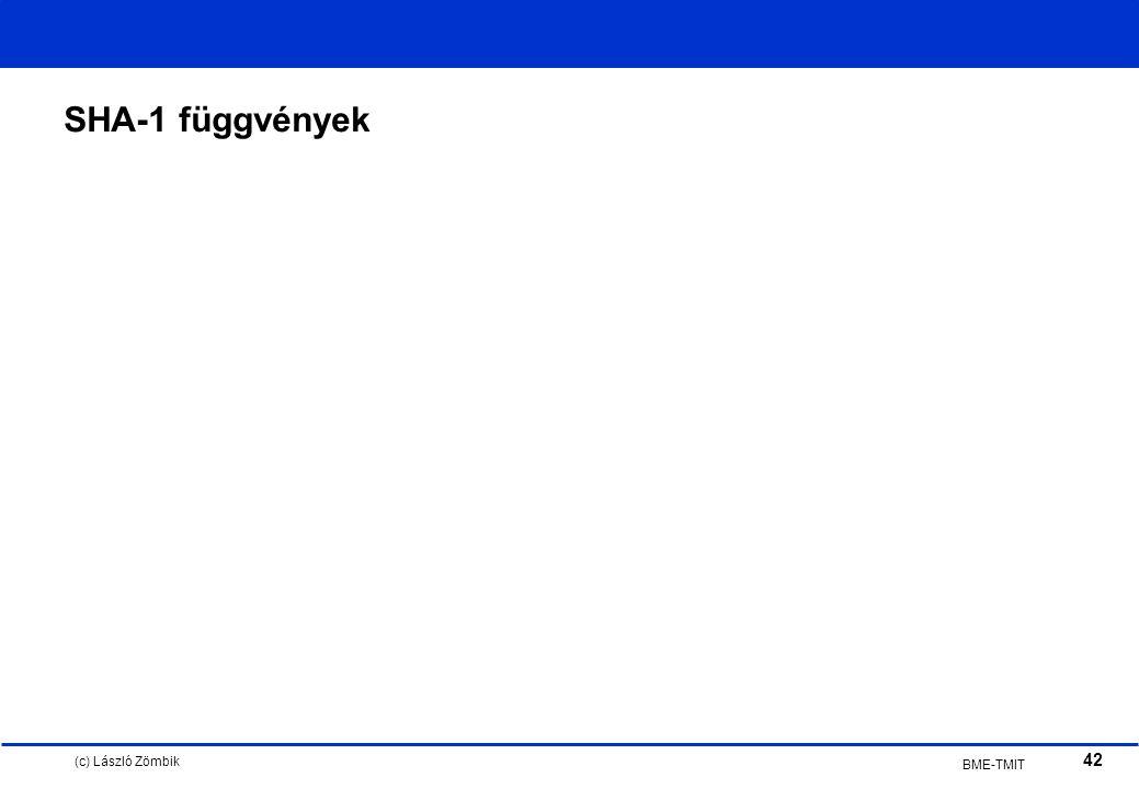(c) László Zömbik 42 BME-TMIT SHA-1 függvények