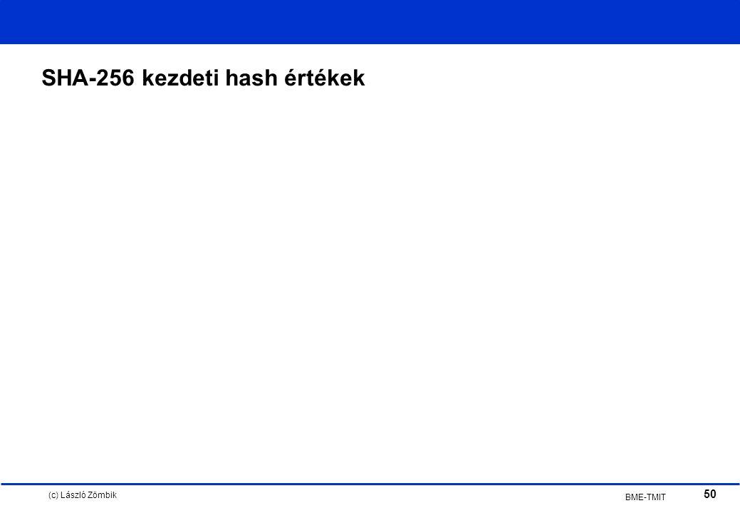 (c) László Zömbik 50 BME-TMIT SHA-256 kezdeti hash értékek