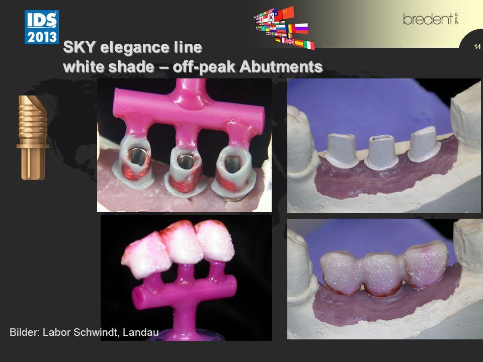 14 SKY elegance line white shade – off-peak Abutments Bilder: Labor Schwindt, Landau