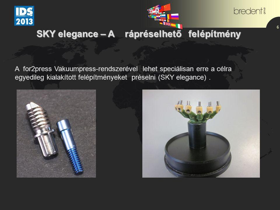 6 A for2press Vakuumpress-rendszerével lehet speciálisan erre a célra egyedileg kialakított felépítményeket préselni (SKY elegance). SKY elegance – A