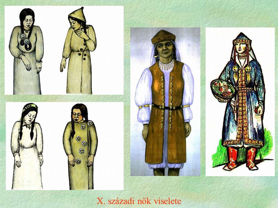 X. századi nők viselete