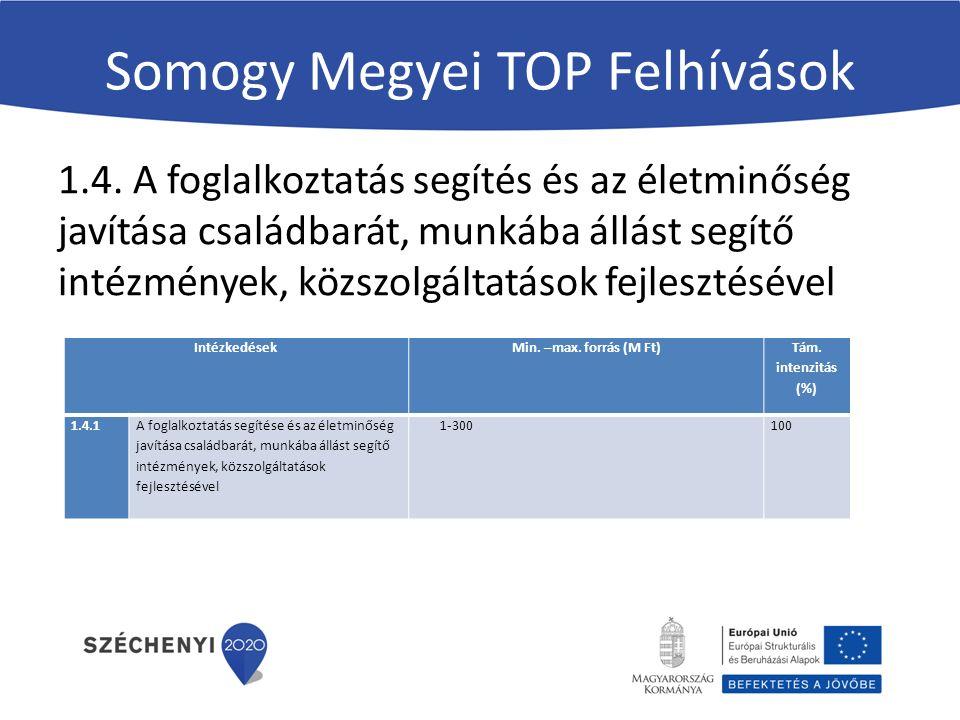 Somogy Megyei TOP Felhívások 1.4.