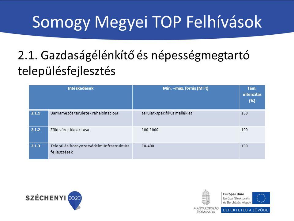 Somogy Megyei TOP Felhívások 2.1.