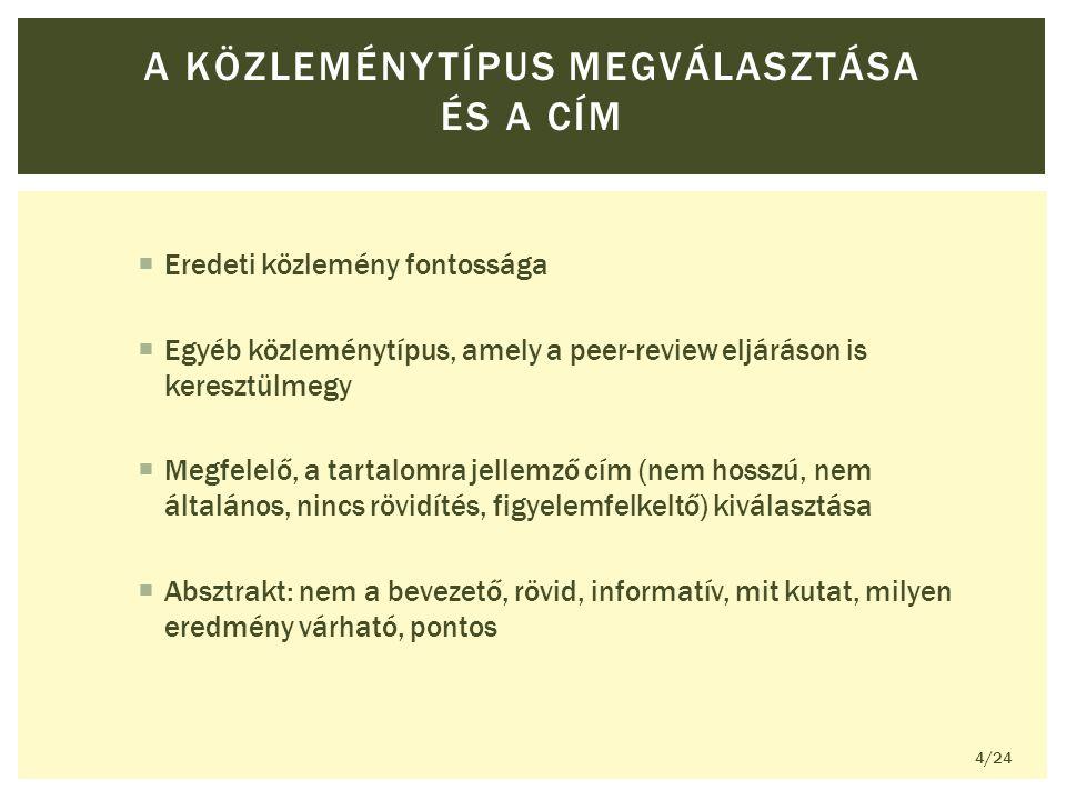 A SZERZŐSÉGRŐL KÉT ELSŐ ÉS KÉT UTOLSÓ SZERZŐ 15/24