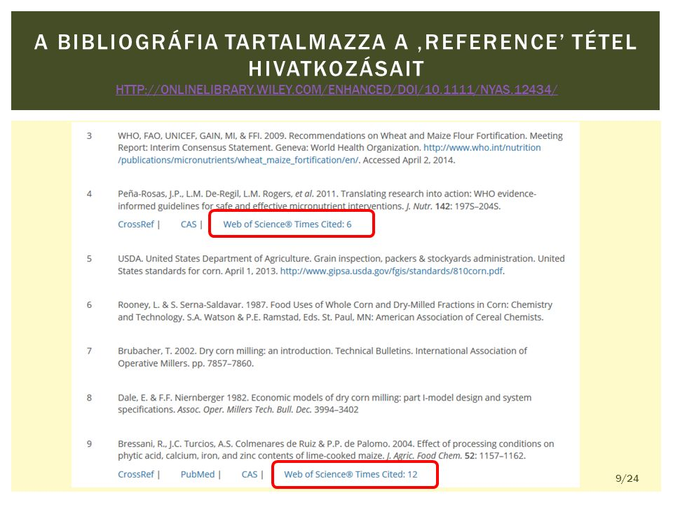A BIBLIOGRÁFIA TARTALMAZZA A 'REFERENCE' TÉTEL HIVATKOZÁSAIT HTTP://ONLINELIBRARY.WILEY.COM/ENHANCED/DOI/10.1111/NYAS.12434/ HTTP://ONLINELIBRARY.WILEY.COM/ENHANCED/DOI/10.1111/NYAS.12434/ 9/24