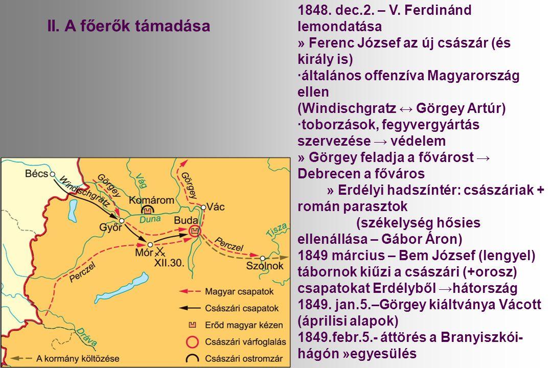 II. A főerők támadása 1848. dec.2. – V.