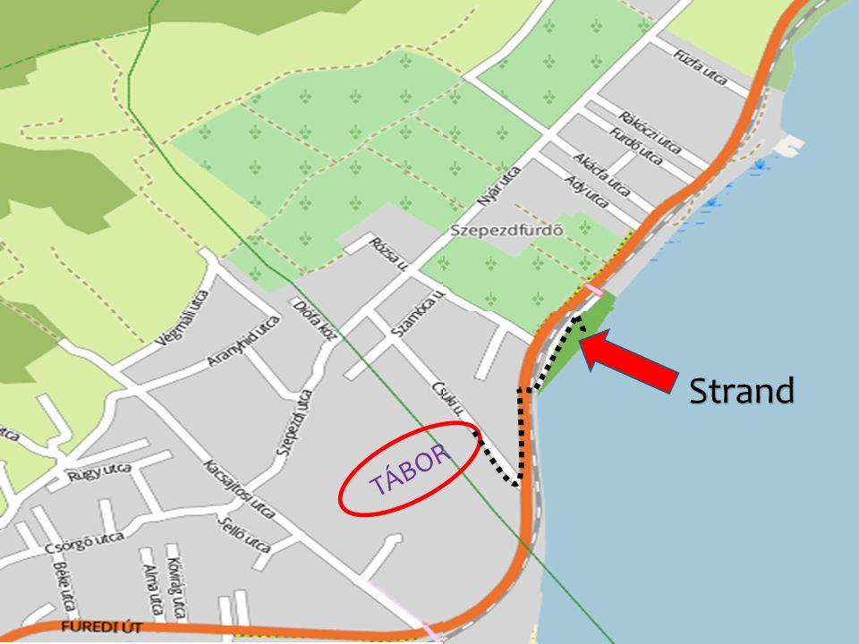 Területe: közel 6000 m 2 /focipálya méret/ a strandtól kb.