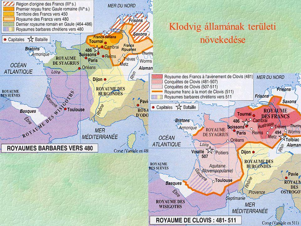Klodvig államának területi növekedése