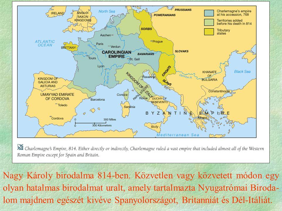 Nagy Károly birodalma 814-ben.