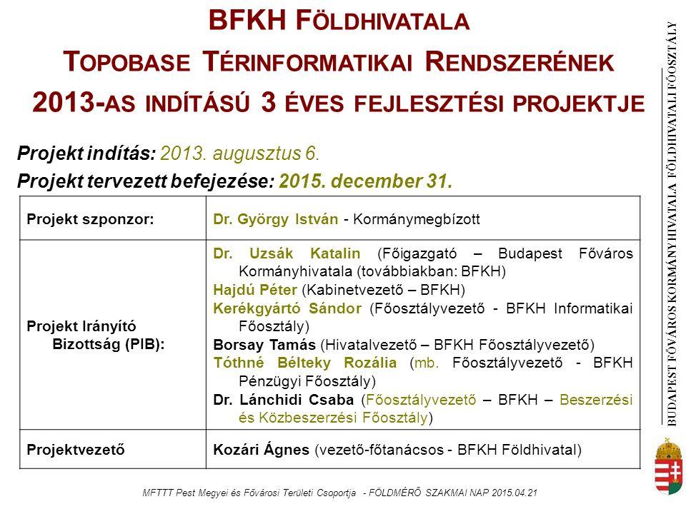 BUDAPEST FŐVÁROS KORMÁNYHIVATALA FÖLDHIVATAL I FŐOSZTÁLY Projekt szponzor:Dr.