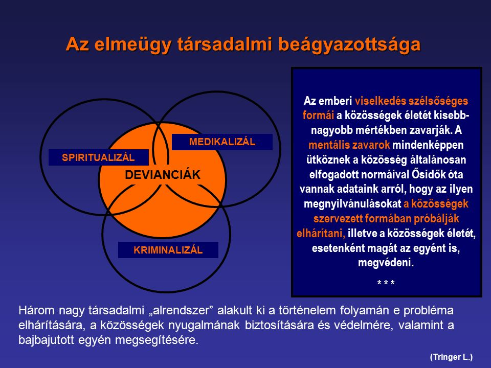 FOGALMI KERET – nyilvánvalóságok (5.) Az adekvát rehabilitációs folyamat: ~ függetlenül a pszichopatológiai tünetek mértékétől a személyiség intakt szegmenseire épít ~ mint felelős partnert tekinti a pácienst és a terápiás szerződéssel bevonja őt a kezelés - a rehabilitációs folyamat - egészébe ~ lényegében egy professzionális kontroll alatt zajló (bio-behaviour) tanulási folyamat (nem lehet mechanikus.