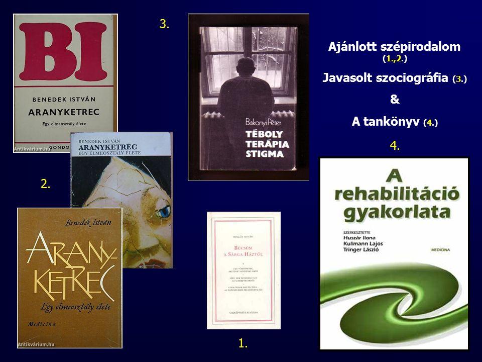 Ajánlott szépirodalom (1.,2.) Javasolt szociográfia (3.) & A tankönyv (4.) 1. 2. 3. 4.