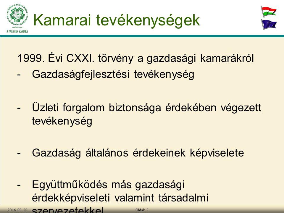 Oldal: 22016. 09. 20. Kamarai tevékenységek 1999.