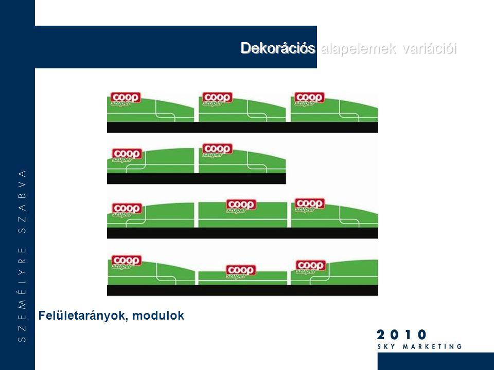 Felületarányok, modulok Dekorációs alapelemek variációi