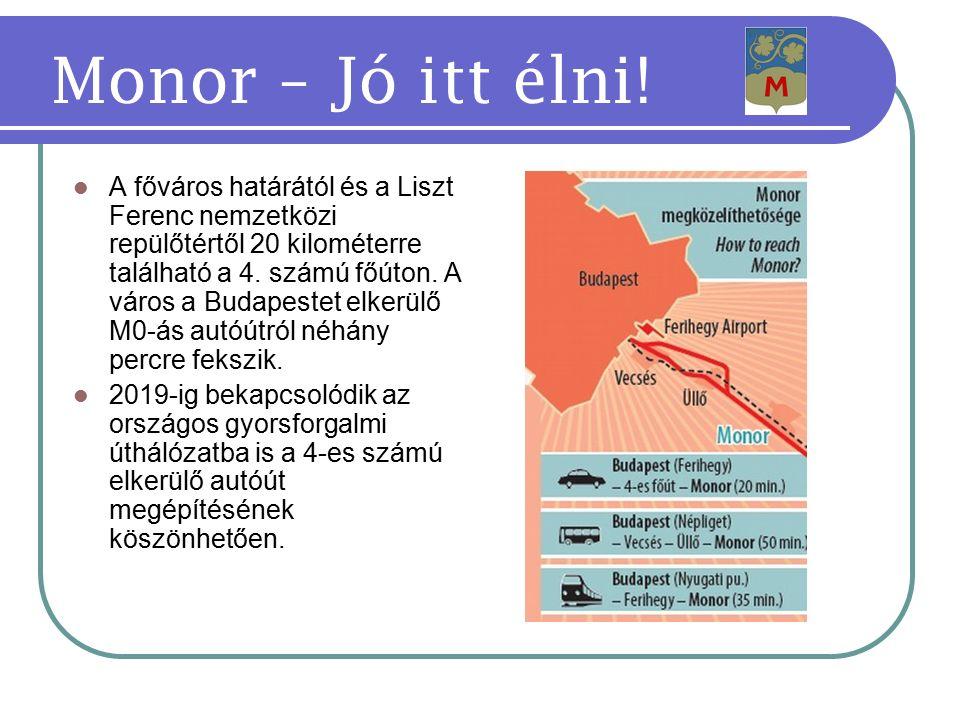 A főváros határától és a Liszt Ferenc nemzetközi repülőtértől 20 kilométerre található a 4.