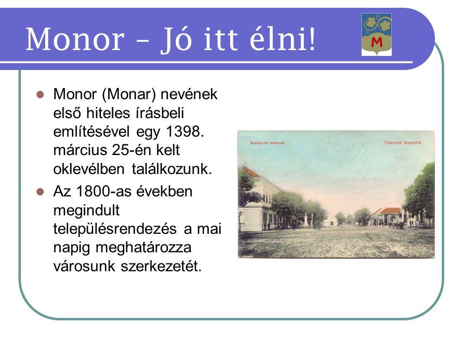 Köszönöm figyelmüket, érezzék jól magukat Monoron! Monor – Jó itt élni!