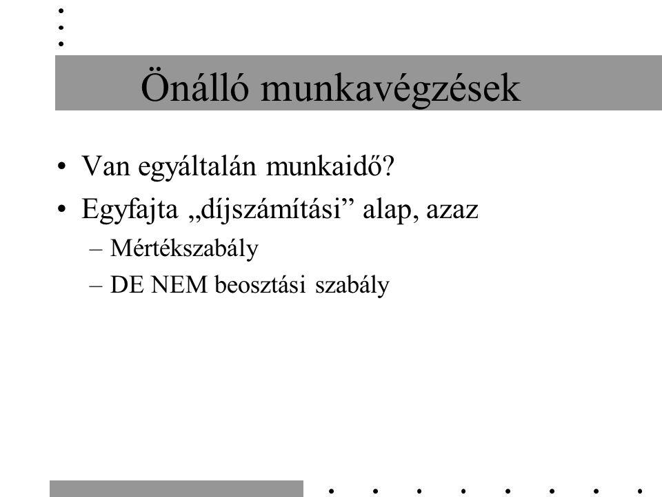 Hol kivételek a KMM-ek.Pl: Vasárnapi/munkaszüneti napi munkaidő elrendelhetőség.