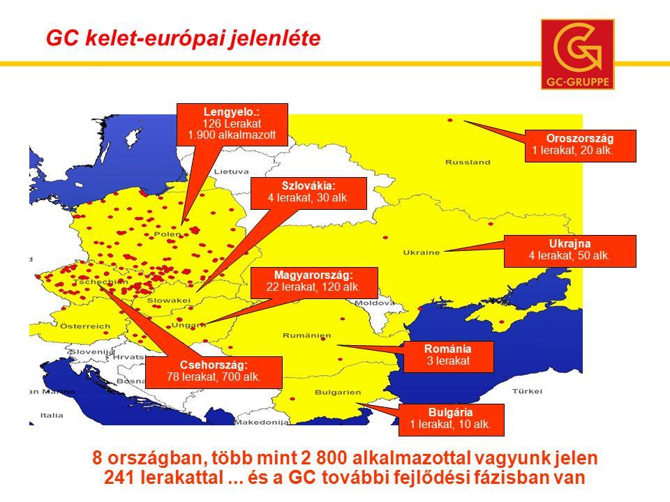 8 országban, több mint 2 800 alkalmazottal vagyunk jelen 241 lerakattal...