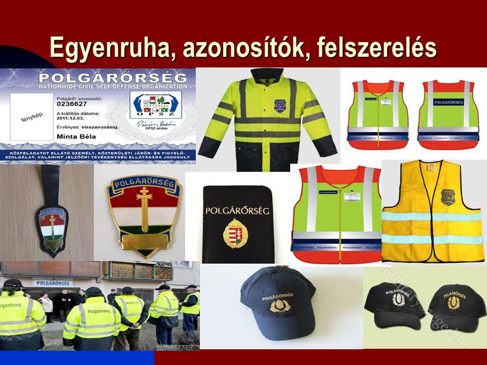Egyenruha, azonosítók, felszerelés 2016. 09. 20.12