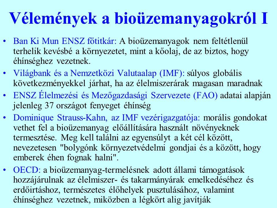 Még egy kérdés: A bioenergia szerepe Pozitív oldal: 1.