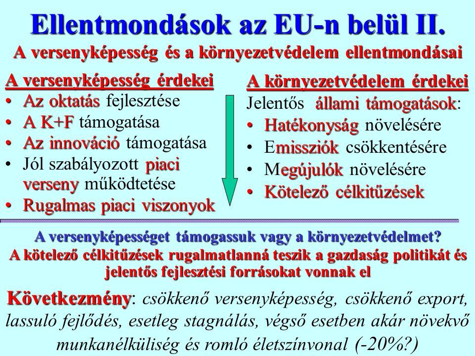 Az EU szép, új Világának költsége Az EU világnak megvalósítása óriási pénzügyi ráfordítással jár.