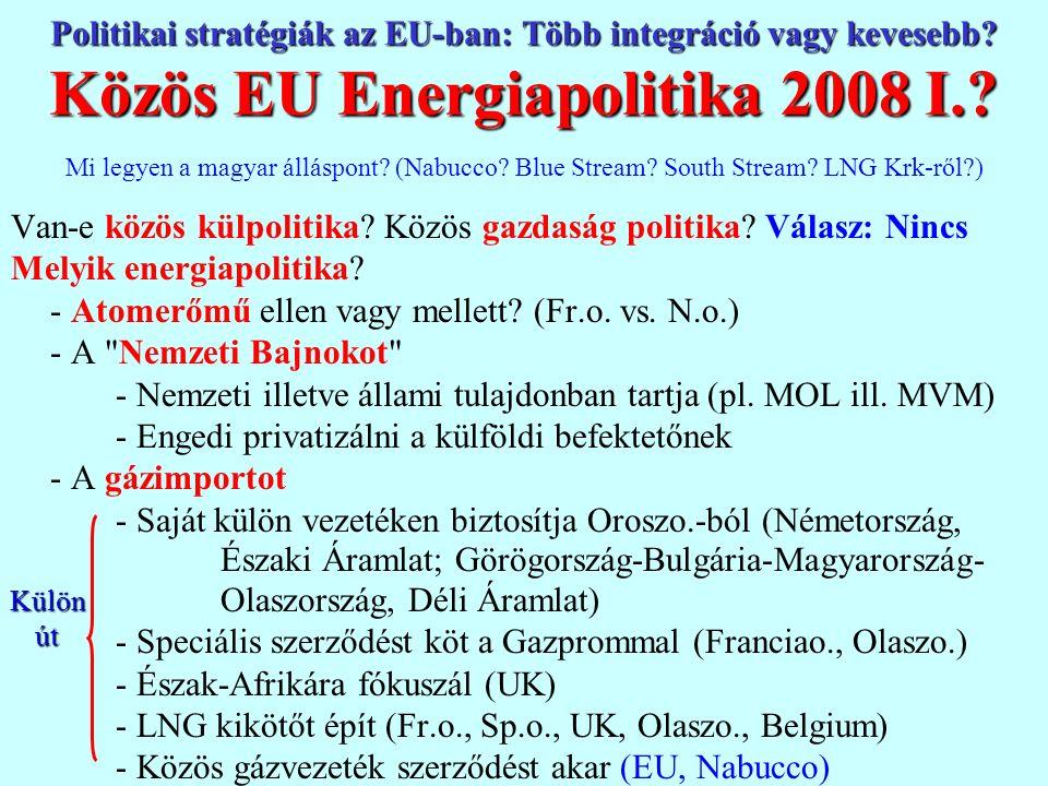 Ellentmondások az EU-n belül II.